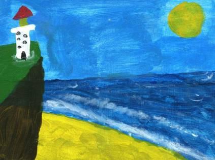 自闭症孩子的画作