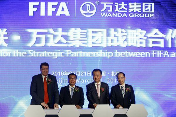 万达集团万达与国际足联在北京宣布